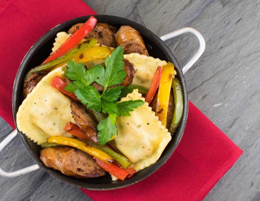 One-Pot Tuscan Chicken Ravioli