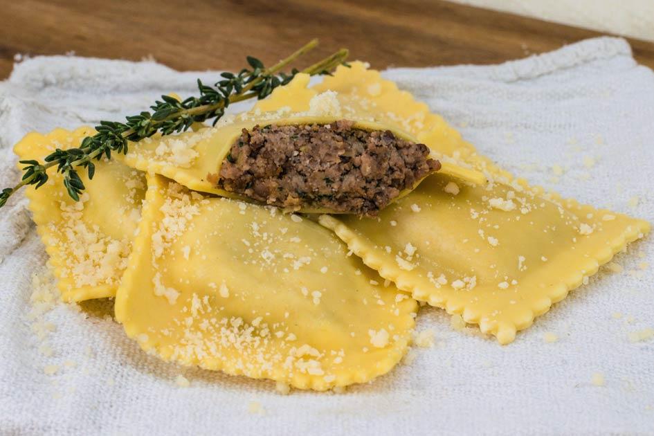 Sausage Ravioli – Medium Square