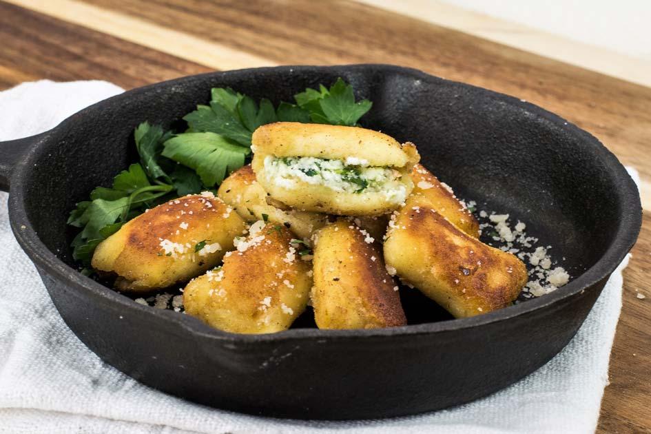 Spinach Stuffed Gnocchi
