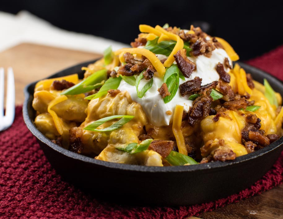 Loaded Baked Potato Gnocchi with Bacon & Cheddar