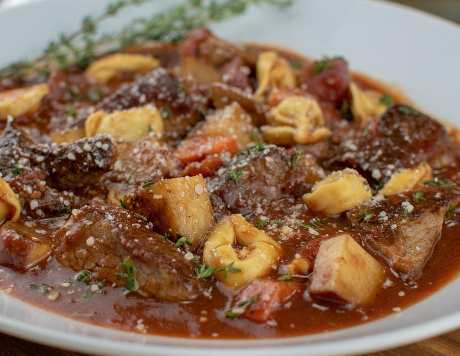 Beef Tortellini Marinara Stew
