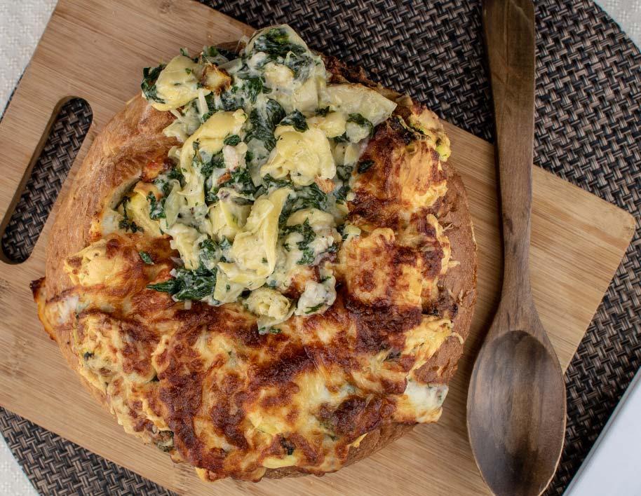 Ultimate Gameday Artichoke & Spinach Tortellini Dip