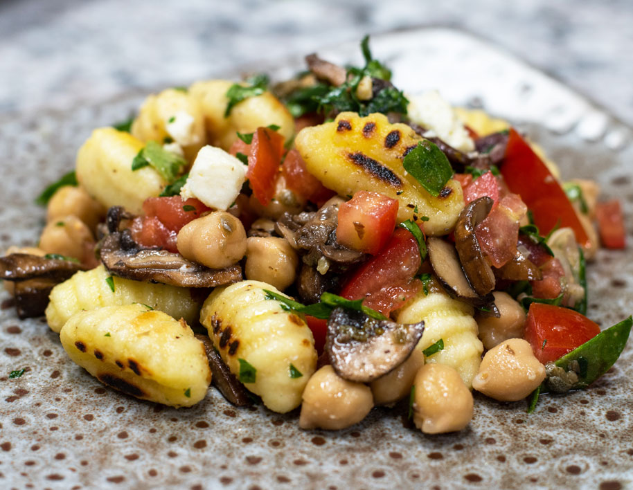 Gnocchi with Mushrooms, Chickpeas & Tomatoes